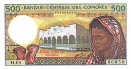 COMORES 1994 500 Franc - P.10b.1  Neuf UNC - Comoros