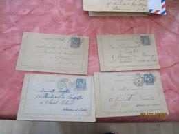 Lot De 6 Carte Letttre Sage 15 C Entier Postal Entiers Postaux Millesime Ou Non - Verzamelingen En Reeksen: PAP