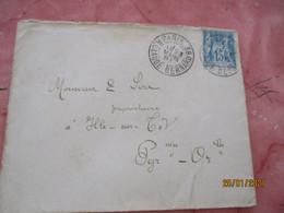 Daguin Double Jumele Paris R Claude Bernard 38 Obliteration Letttre Timbre Sage - 1877-1920: Semi Modern Period