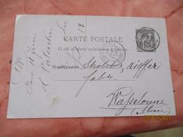 1880 Paris Gare Du Nord Poste Ferroviaire Entier Postal Sage 10 C - Spoorwegpost