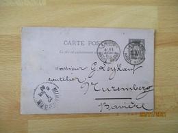 Daguin Double Jumele Obliteration Entier Postal Sage - 1877-1920: Semi-moderne Periode