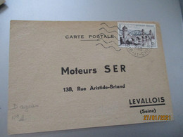 Flamme 5 Lignes Ondulees Courte Droue  41 Sur Lettre - 1921-1960: Modern Period