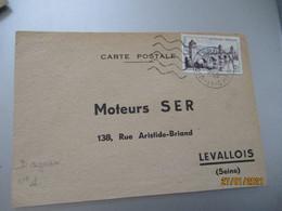 Flamme 5 Lignes Ondulees Courte Droue  41 Sur Lettre - 1921-1960: Periodo Moderno