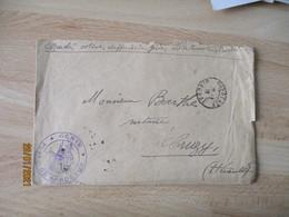 Genie Place Bordeaux 1918 Cachet Franchise Postale Guerre 14.18 - Guerra De 1914-18