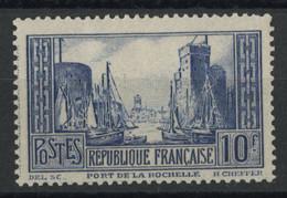 N°261c PORT DE LA ROCHELLE 10 FR Bleu Neuf * (MH) Cote 200 € TB Vendus à 10 % De La Cote. - Ohne Zuordnung