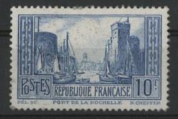 N°261d PORT DE LA ROCHELLE 10 Fr Outremer Type II Neuf (GNO) Cote 280 € Regommé, Gomme Non Originale - Ohne Zuordnung