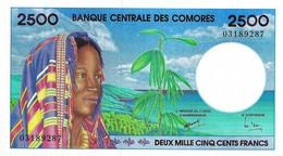 COMORES 1997 2500 Franc - P.13 Neuf UNC - Comoros