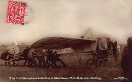 ABERDEEN  The First Aeroplane Exhibition Mr H.B. Hucks Starting - Publisher Holmes Silver City Series - Aberdeenshire