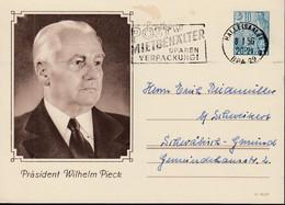 DDR  P 67,  Gebraucht, Stempel: Eisenberg 11.5.1957 - Postales - Usados