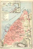 """SMYRNA Izmir Türkei Turkey Farbig 1904 """" Stadtplan 1:20.000 """" A4 Litho Gravure Engraving - Lithographies"""