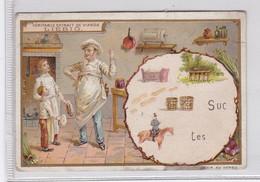 Chromo Liebig S394 * Word Pictures XI * (Rébus Dans Médaillons Roses) (1893) Rebus - Liebig