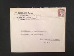 Algérie :lettre En-tête Judaïca Oblitération .Tlemcen 1961 - 1921-1960: Modern Tijdperk
