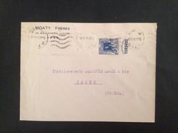 Algérie :lettre En-tête Judaïca ,bande Pub Carnet Oblitération . Oran1938 - 1921-1960: Modern Tijdperk