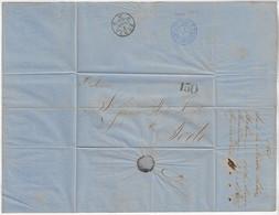 Brazil 1865 Fold Cover From Bahia To Porto Portugal Postmark Correio Marítimo Sea Mail 150 Reis - Briefe U. Dokumente