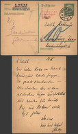 Germany 1925 - Postal Stationery Berlin To Homburg Fwd Saarbrücken - Postage Due - Interi Postali