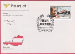 "FDC 2007 - Mi 2655 (2) , "" Formel 1 Legenden - Clay Regazzoni "" , SST 1010 Wien - FDC"