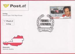 """FDC 2007 - Mi 2656 (2) , """" Formel 1 Legenden - Gerhard Berger """" , SST 1010 Wien - FDC"""
