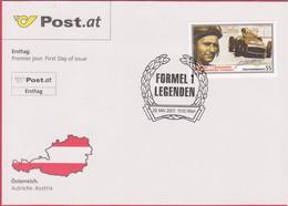 """FDC 2007 - Mi 2657 (3) , """" Formel 1 Legenden - Juan Manuel Fangio """" , SST 1010 Wien - FDC"""