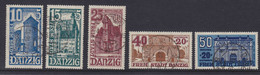 Danzig MiNr. 262-266 Gest. - Danzig