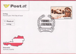 """FDC 2007 - Mi 2658 (3) , """" Formel 1 Legenden - John Surtees """" , SST 1010 Wien - FDC"""