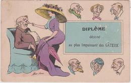 CAP - DIPLOME DECERNE AU PLUS IMPUISSANT DES GATEUX -  ILLUSTRATEUR: XAVIER SAGER - - Humour