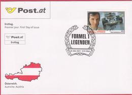 """FDC 2007 - Mi 2661 (3) , """" Formel 1 Legenden - Emerson Fittipaldi """" , SST 1010 Wien - FDC"""