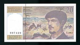 1997 BILLET NEUF 20 F CLAUDE DEBUSSY - 20 F 1980-1997 ''Debussy''