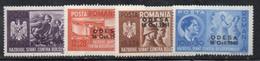 KS101B - ROMANIA 1942 ,  Serie Yvert N. 695A/D   *  Linguella. Conquista Di Odessa - Nuovi
