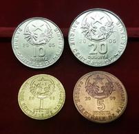 Mauritania Set 4 Monedas 1 5 10 20 Ouguiya 2003-2005-2009 SC UNC - Mauritania