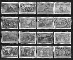 ETATS-UNIS 1893 SCOTT 230/245 - SERIE COMPLETE - COPIES/FAUX - Vari