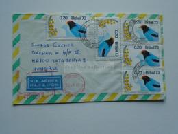 ZA346.6 BRAZIL  BRASIL Airmail   Cover - Cancel  1973  Rio Grande  Sent To Hungary  Birds - Cartas