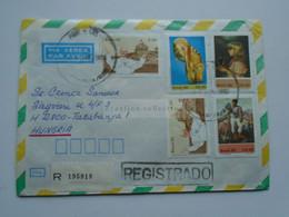ZA346.8 BRAZIL  BRASIL   Registered Airmail Cover - Cancel  1980  Brasilia    Sent To Hungary - Cartas