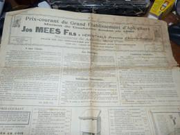 Ancienne Publicité Papier Journal 1921 Etablissement Apiculture Jos Mees Herenthals Abeille Ruche - Publicités