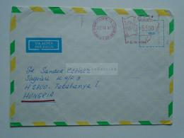 ZA346.9 BRAZIL  BRASIL  Airmail Cover  Meter - Cancel  1981  Brasilia    Sent To Hungary - Cartas