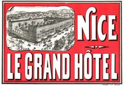 NICE . GRAND HOTEL - Hotel Labels