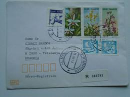 ZA346.14 BRAZIL  BRASIL Registered Airmail Cover    - Cancel  Florianopolis     Sent To Hungary - Cartas