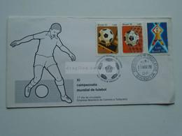 ZA346.18   BRAZIL  BRASIL  Airmail Cover    - Cancel   1978  Brasilia  Sent To Hungary - Campeonato Mundial De Futebol - Cartas