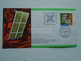 ZA346.19   BRAZIL  BRASIL FDC  - Cover    - Cancel   1974 Guanabara   Casa Da Moeda Do Brasil - Cartas