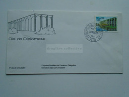 ZA346.20   BRAZIL  BRASIL FDC  - Cover    - Cancel   1976 RIO   Dia Do Diplomata - Cartas