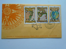 ZA346.23  BRAZIL  BRASIL FDC  - Cover    - Cancel   1972   Guanabara   EXFILBRA 72 - Maps - Cartas