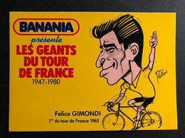 Felice Gimondi - BANANIA - Caricature Pellos 1981 - Carte / Card - Cyclist - Cyclisme - Ciclismo -wielrennen - Ciclismo