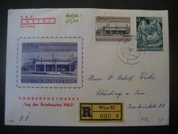 Österreich 1963- FDC Reco Sonder-Brief Gelaufen Von Wien Nach Schärding Mit MiNr. 1143 Und Tag Der Briefmarke 1144 - 1961-70 Brieven