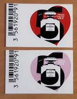 """2021 """"COEUR CHANEL N° 5 PARIS PARFUM"""" - 1,08 + 2,16 € - TIMBRE - NEUF - BDF - Autoadesivi"""