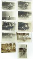 Foto/Photo. Moto Gillet. Motard. Lot De 10 Photos. 1926. - Automobile