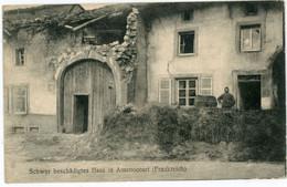 Feldpost -  Amenocourt Frankreich  . Minenwerfer Kompanie Nr.301 (1917) .14-18.WWI - Guerra 1914-18