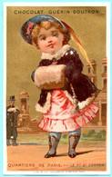 Jolie Chromo Chocolat Guérin-Boutron. Les Quartiers De Paris. Le F. St. Germain. Fond Doré. Lith. Vieillemard & Ses Fils - Guerin Boutron