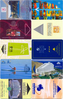 HOTEL : H115 10 HOTEL KEY CARDS AS PICTURED USED - Cartas De Hotels
