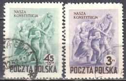 Poland 1952 Celebrating New Constitution - Mi 760-61 - Used - Used Stamps