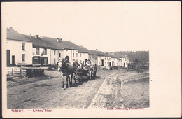 +++ CPA - CHINY - Grand 'Rue - Attelage Cheval   // - Chiny
