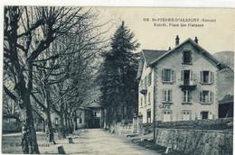 CPA  ST - PIERRE D'ALBIGNY   Entrée ,Place Des Platanes  N° 638 - Saint Pierre D'Albigny
